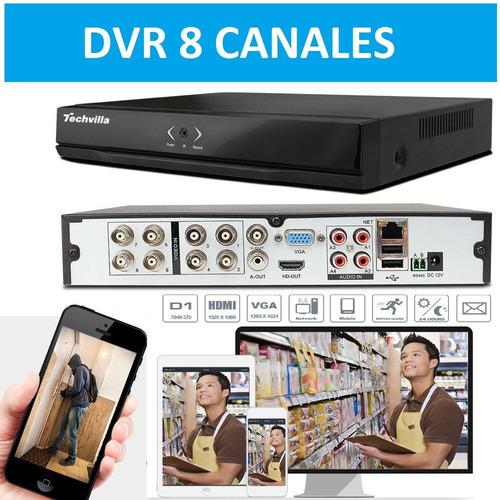 dvr 8 canales pagina web propia full d1 hdmi usb vga audio