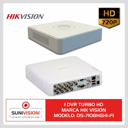 dvr 8 ch f1 hik vision hd 720p ezviz cloud p2p