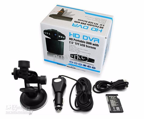 dvr carro portatil 2.5 inch hd + 6 ir led nightvision