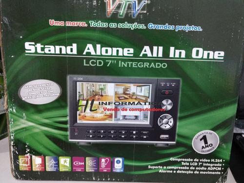 dvr com tela integrada lcd 7  integrada analógico