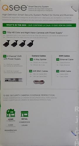 dvr con cámaras 4 channel analog hd 720p.