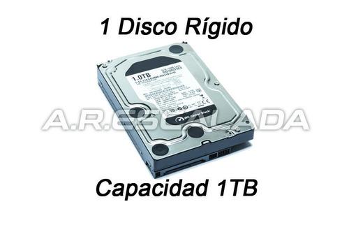 dvr dahua xvr4108hs + disco rígido de 1 terabyte