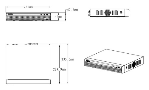 dvr dahua xvr5108he-x 8 canales pentahibrido +4ip 1080p p2p.