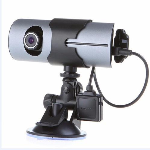 dvr doble cámara de seguridad para vehiculo r300 hd carro