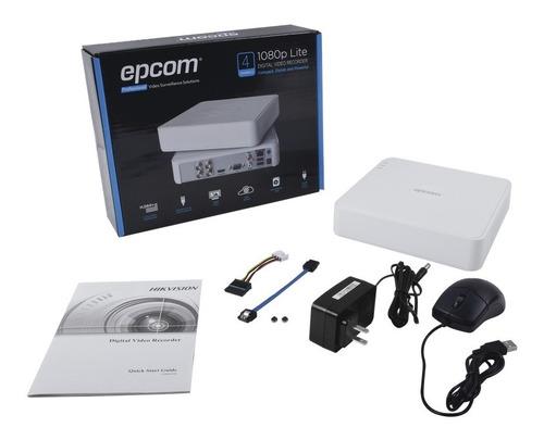dvr epcom 4 canales 1080p pentahibrido s04-turbo-l