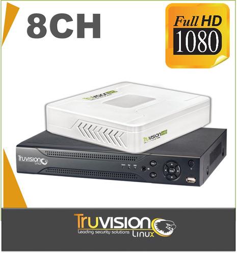 dvr grabador full hd 1080 para 8 cámaras de seguridad 5 años