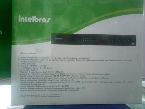 dvr gravador digital de vídeo intelbras vd 16e 480c 16canais