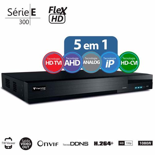 dvr gravador digital tecvoz - flex hd - tw-e304 4 canais