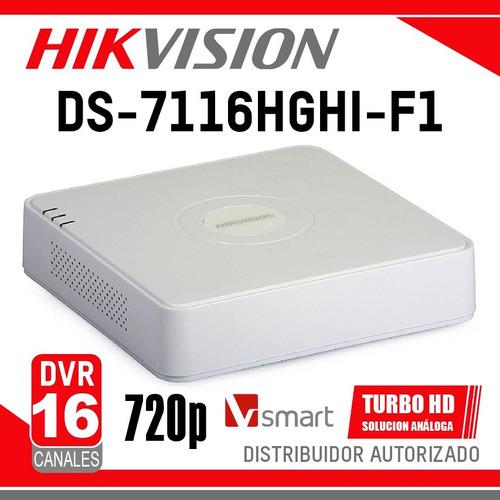 dvr hikvision 16 canales ds-7116hghi-f1 ccs