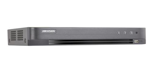 dvr hikvision 4 megapixel 16 canales + 2 ip ds-7200 pentahibrido turbo hd salida 4k ds-7216hqhi-k2