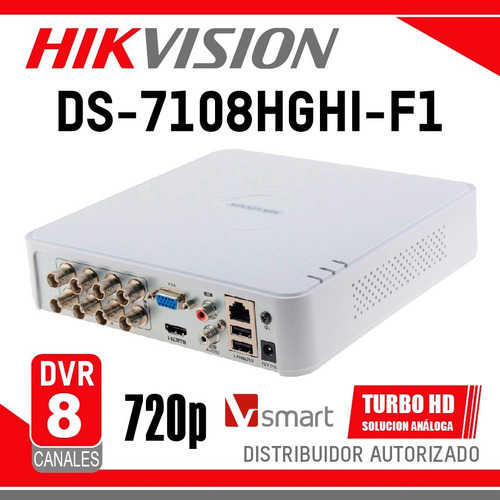 dvr hikvision 8 canales ds-7108hghi-f1 caracas