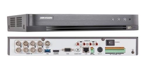 dvr hikvision 8 canales hasta 8mp 4k c/salida de alarma