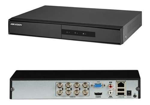 dvr hikvision hd tvi 8 canais 1080p ds-7208hghi f1/n lite