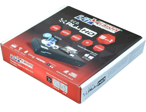 dvr hvr all hd 5x1 ecd ahd 8 canais hibrido 1080p luxvision