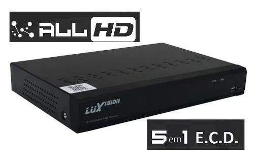 dvr hvr ecd all 4 canais 5 em 1 lvdvr9804a  1080p luxvision