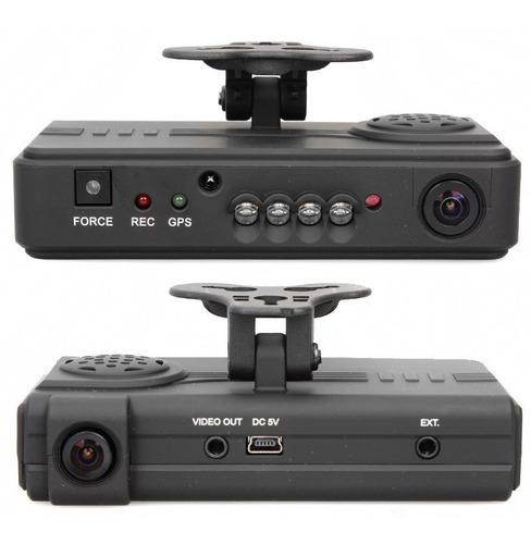 dvr móvil doble cámara para vehículos,interior vga,exterior