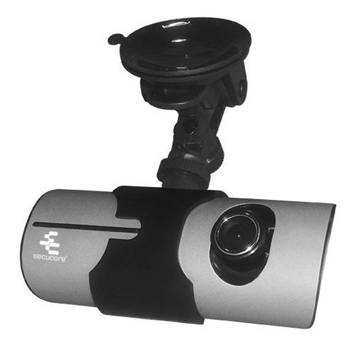 dvr móvil secucore para vehículos con doble cámara, gps y pa