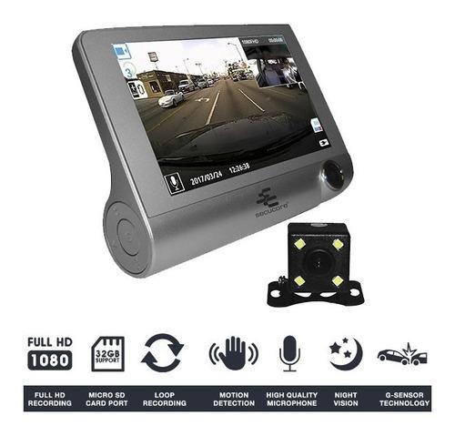 dvr móvil secucore para vehículos con triple cámara