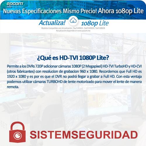 dvr pentahibrido 4 canales epcom hd 720p 1080p s04turbox