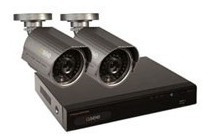 dvr qsee kit con 2 camaras , 500gb disco duro, 4 canales, an