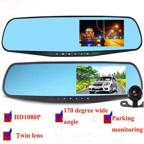 dvr retrovisor grabador de vídeo cámara 4.3  hd 1080p