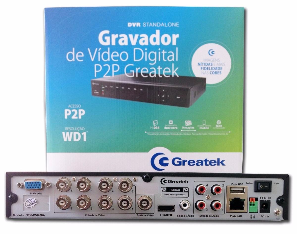 Dvr Stand Alone Greatek 4 Canais R 49900 Em Mercado Livre Standalone