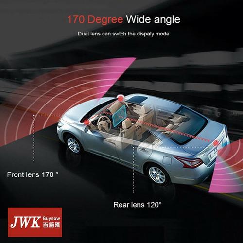dvr vehiculo 1080p 7inch táctil 170 ° hd doble camara jwk