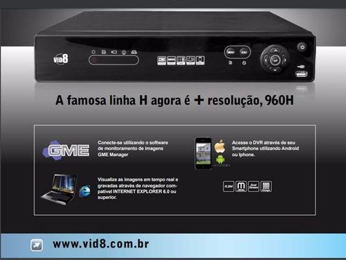 dvr vid8 gravador digital de imagem n c/nf 16 canal + hd-500