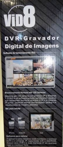 dvr vid8 gravador digital de imagem novo c/nf 16 canal.
