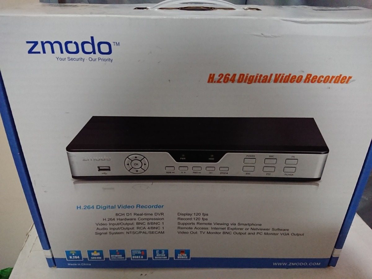 Dvr Zmodo 8 Canales Disco Duro 500gb Nuevo En Caja