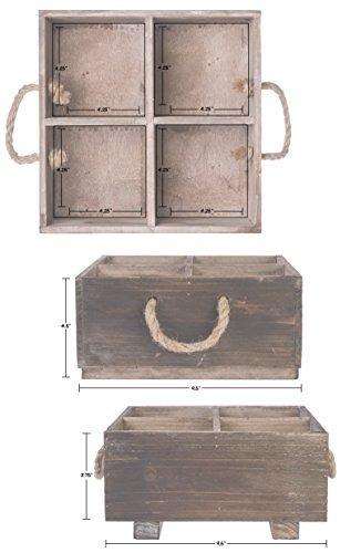 dwellbee caddy de madera rústico del organizador con las...