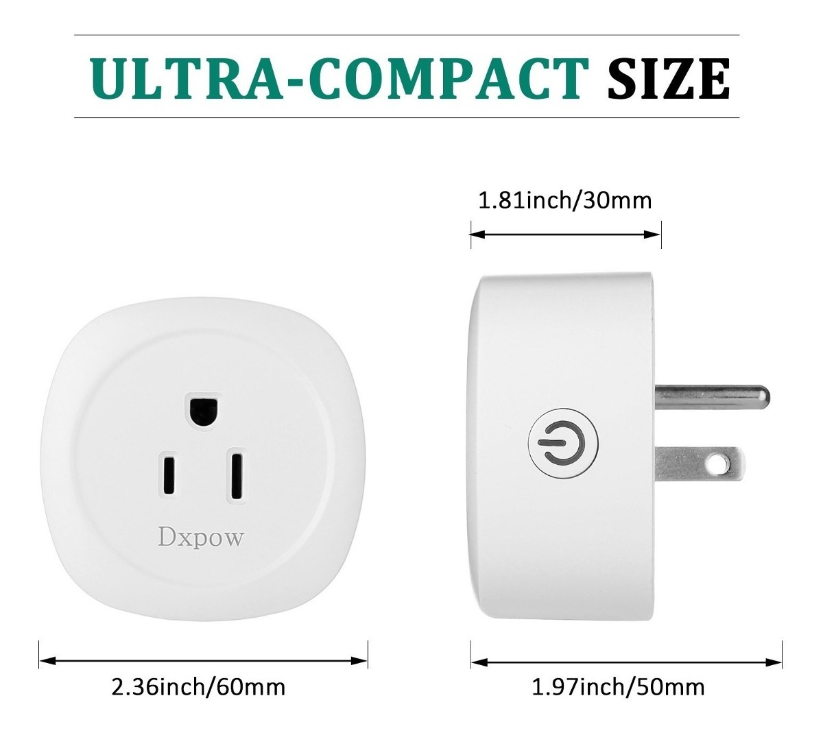 UK Plug Wi-Fi Smart Plug,EletecPro Compatible with Alexa Wireless WiFi No Hub Required,Power Socket Outlet Control Your Devices from Anywhere