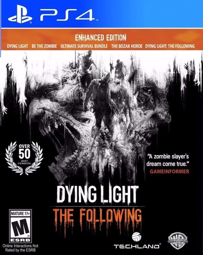 dying light ps4 the following fisico juego playstation 4