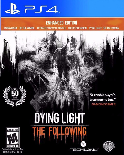 dying light the following enhanced edition ps4 envios
