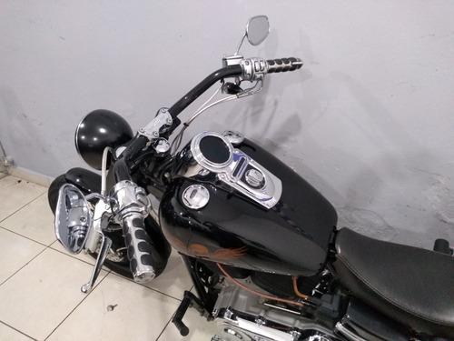 dyna super glide custon 2008 preta customizada linda