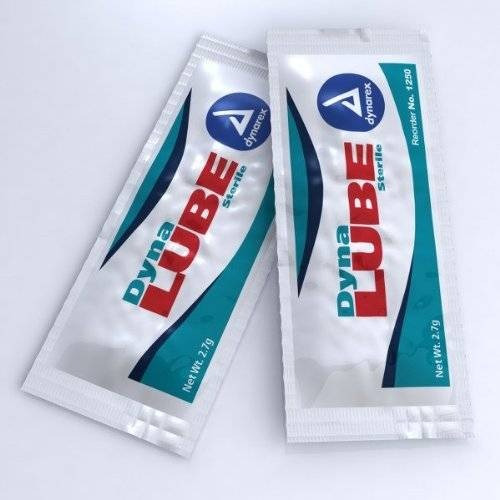dynarex 1250 dynalube lubrica la jalea estéril 2,7 g (paquet