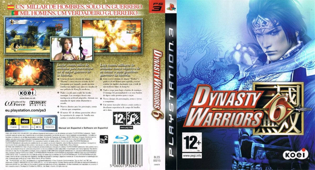df79254a2dc Dynasty Warriors 6 Ps3 Fisico -   650