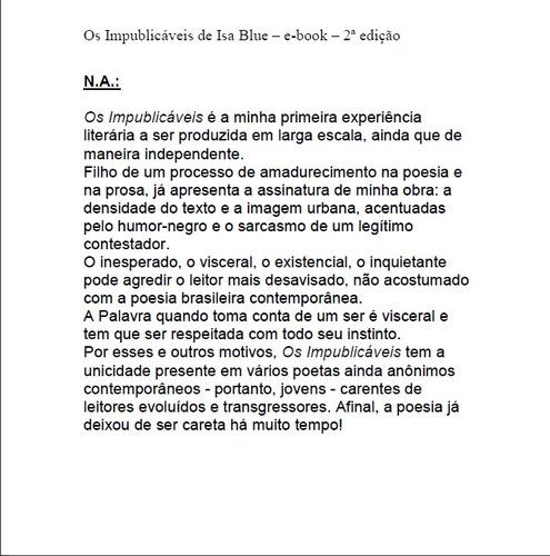 e-book os impublicáveis de isa blue