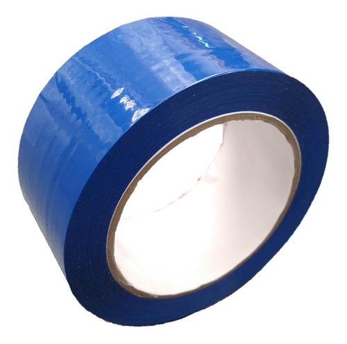 e cinta azul adhesiva