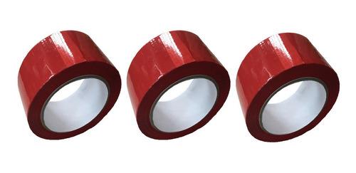 e cinta roja adhesiva x 3 unidades
