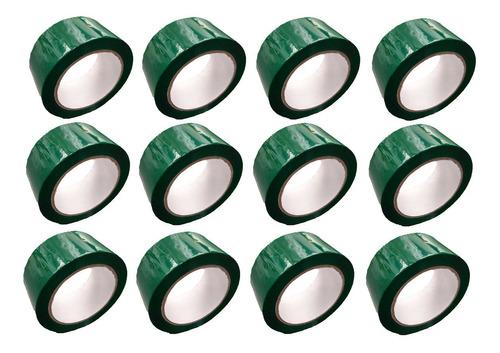 e cinta verde adhesiva x 12 unidades
