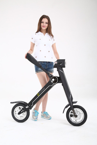 e-cycle /scooter eléctrico k1r3 - negro