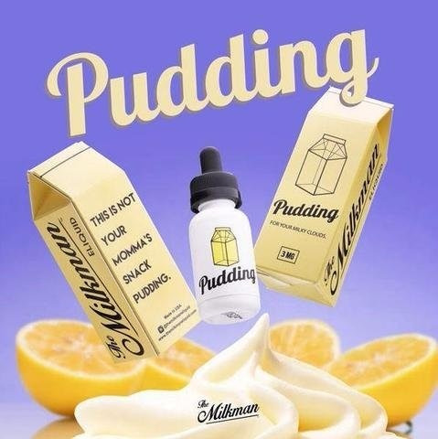e-juice pudding 99% vg - 30ml - the milkman