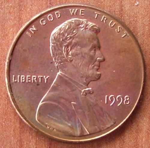 e r r o r !! moneda usa 1 c wide am 1998 very rare,original!