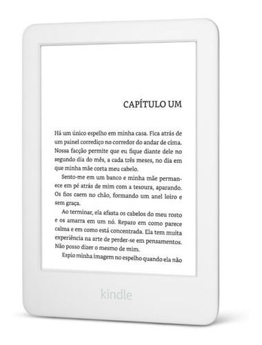 e-reader amazon kindle 10º branco tela de 6  wi-fi 4gb