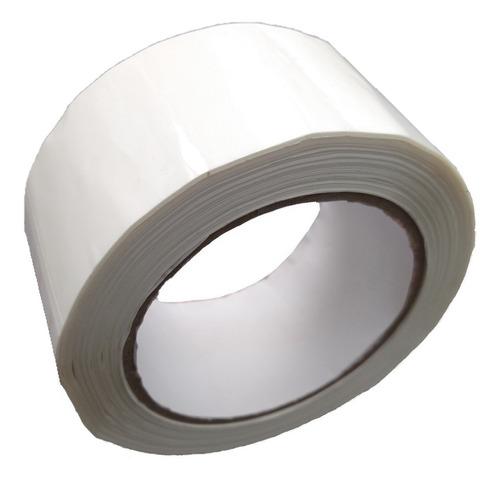 e rollo de cinta de color blanco