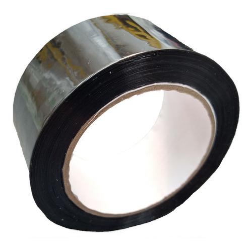 e rollo de cinta de color negro