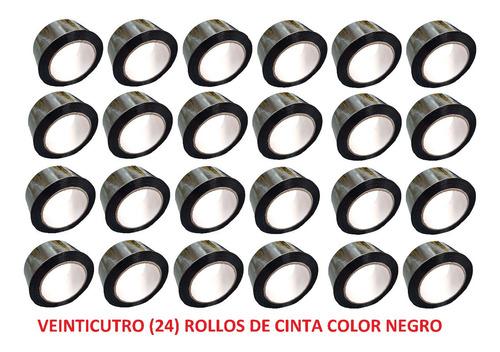 e rollo de cinta de color negro x 24 unidades
