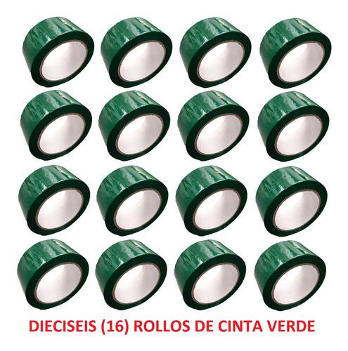 e rollo de cinta de color verde x 16 unidades