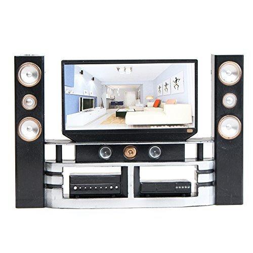 e ting hi fi tv gabinete set dollhouse accesorios muebles. Black Bedroom Furniture Sets. Home Design Ideas